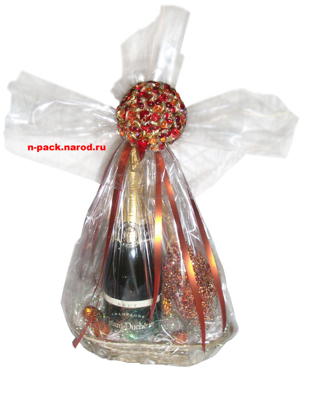 Восхитительные идеи как красиво упаковать бутылку. Подарок, который